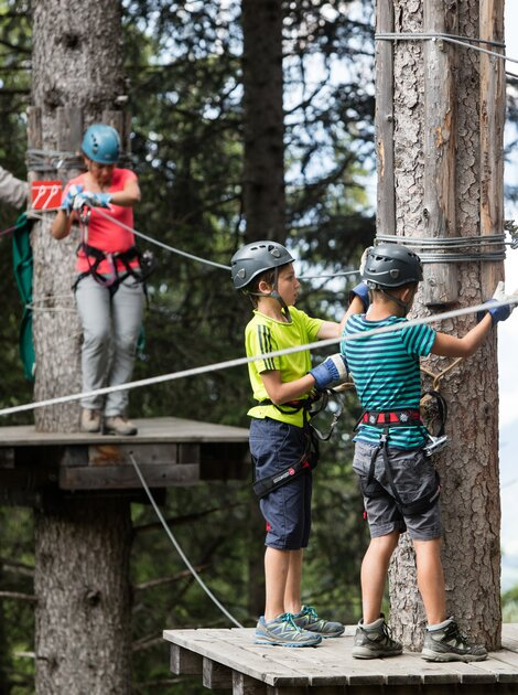 High-rope adventure park with arosa card | © Savognin Tourismus i.S., A. Flütsch